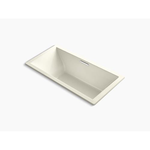 """Biscuit 72"""" X 36"""" Drop-in Bath With Center Drain"""