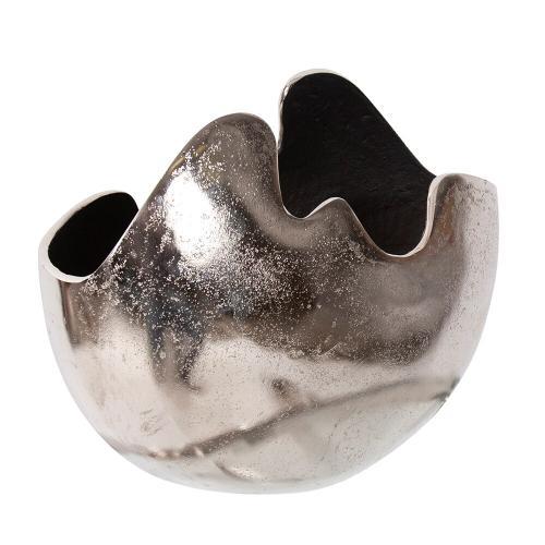 Howard Elliott - Asymmetrical Contemporary Aluminum Bowl