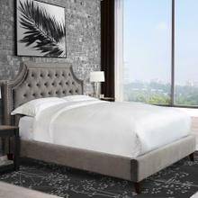 JASMINE - FLANNEL King Bed 6/6 (Grey)