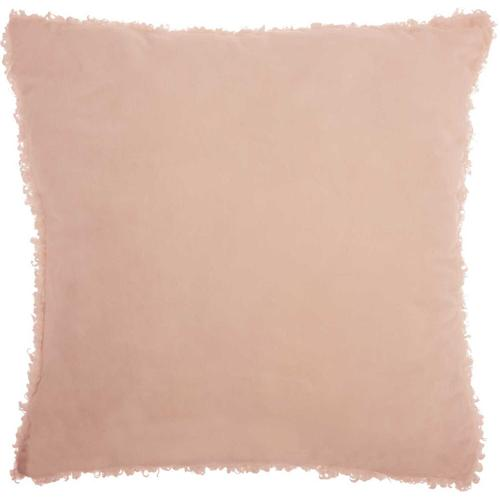"Faux Fur Fl200 Rose 22"" X 22"" Throw Pillow"