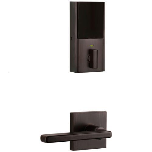 Kwikset - Obsidian Keywayless Electronic Touchscreen Deadbolt with Halifax Passage Lever - Venetian Bronze