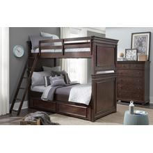 See Details - Canterbury - Warm Cherry Twin Over Twin Bunk Bed
