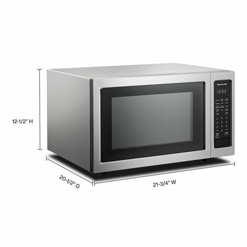 "KitchenAid - 21 3/4"" Countertop Convection Microwave Oven - 1000 Watt - Stainless Steel"