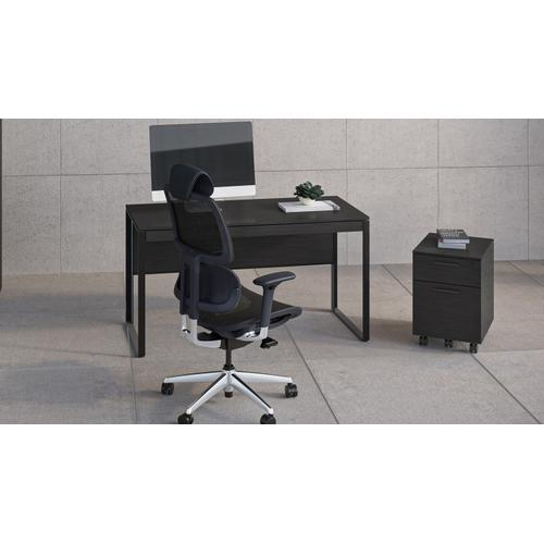 BDI Furniture - Linea 6227 Mobile File Pedestal in Charcoal Stained Ash