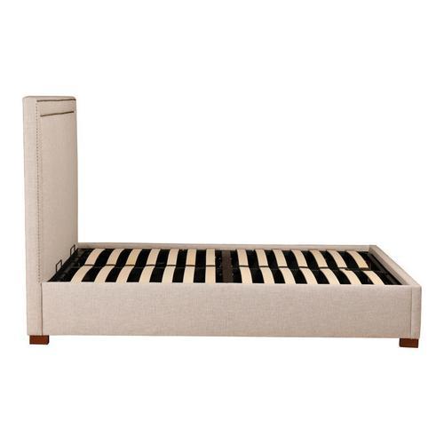 Kenzo Storage Bed King Ecru