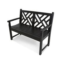 """Black Chippendale 48"""" Bench"""