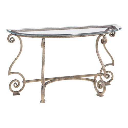 Bernhardt - Solano Console Table Glass Top and Base