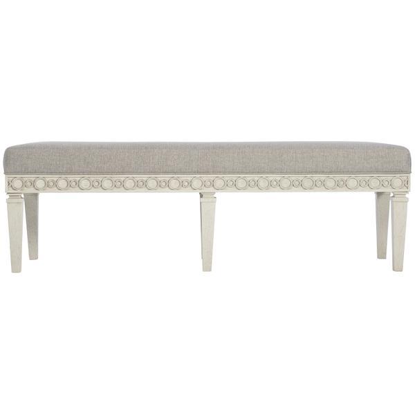 Allure Bench in Manor White (399)