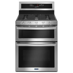 MAYTAG30-Inch Wide Double Oven Gas Range With True Convection - 6.0 Cu. Ft.