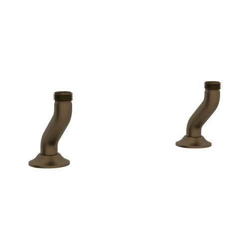 Georgian Era Deck Unions for Bridge Faucet - English Bronze