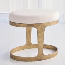 See Details - Oslo Stool-Gold w/Muslin Cushion