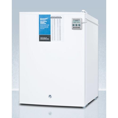 Compact Commercially Listed Manual Defrost All-freezer With Nist Calibrated Thermometer and Lock