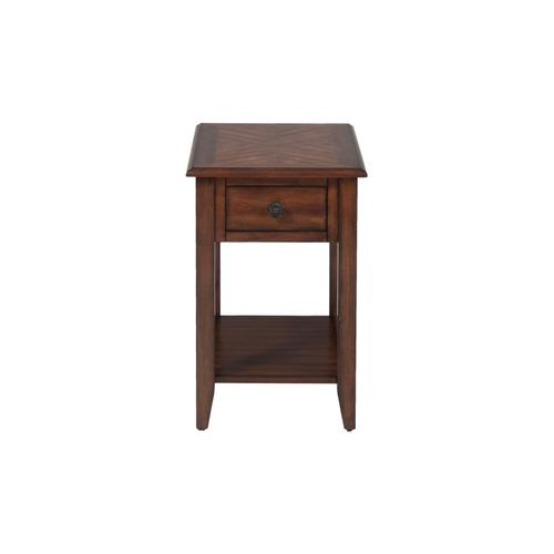 Medium Brown Chairside Table