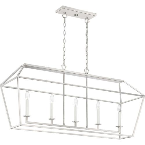 Quoizel - Aviary Island Chandelier in Polished Nickel