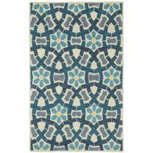 View Product - Garden Mosaic Beige Blue - Rectangle - 5' x 8'