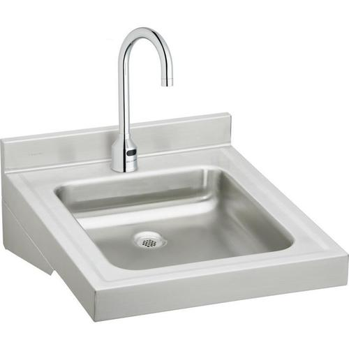 "Product Image - Elkay Sturdibilt Stainless Steel 19"" x 23"" x 4"", Wall Hung Single Bowl Lavatory Sink Kit"