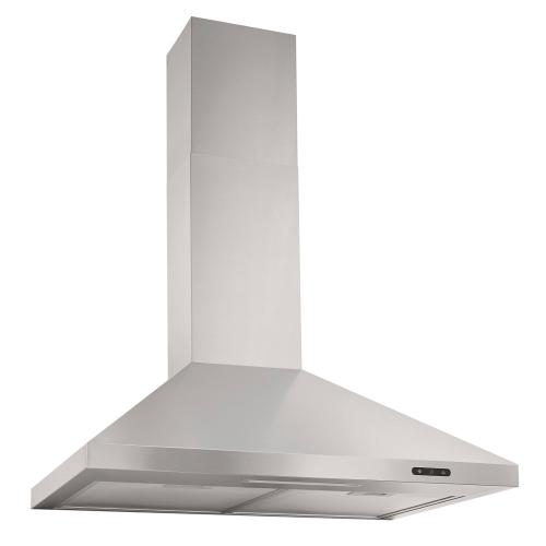 30-In. Convertible Wall Mount Chimney Range Hood with LED Light in Stainless Steel