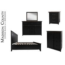 Madison County King Panel Headboard - Vintage Black