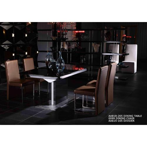 Gallery - A&X 0099 Modern Gold Leatherette Dining Chair