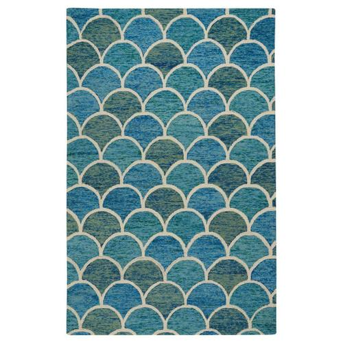 "Brass Belly Ocean - Rectangle - 3'6"" x 5'6"""