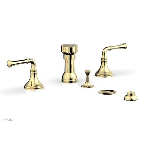 3RING Four Hole Bidet Set D4205 - Polished Brass