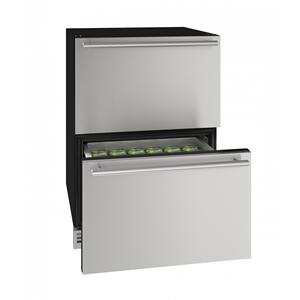 "U-LineHdr124 24"" Refrigerator Drawers With Stainless Solid Finish (115v/60 Hz Volts /60 Hz Hz)"