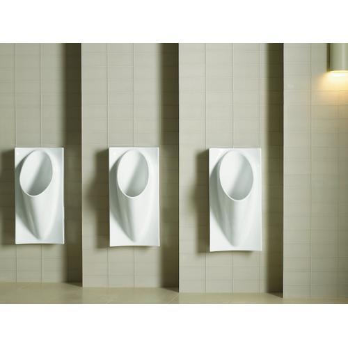 "White Waterless 15-5/8"" X 15"" X 29-5/8"" Deep Wall-mount Urinal"