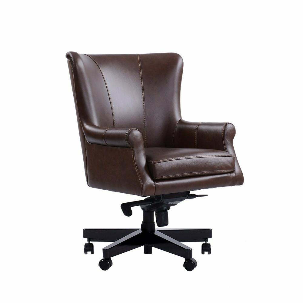 DC#129 Verona Brown - DESK CHAIR Leather Desk Chair