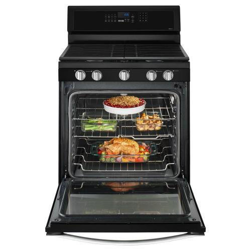 Whirlpool - 5.8 Cu. Ft. Freestanding Gas Range with EZ-2-Lift™ Hinged Grates