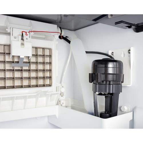Commercially Listed Clear Icemaker With 100 Lb. Ice Production Capacity for Built-in or Freestanding Use
