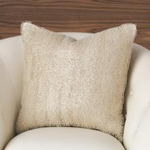 Beaded Pillow-White