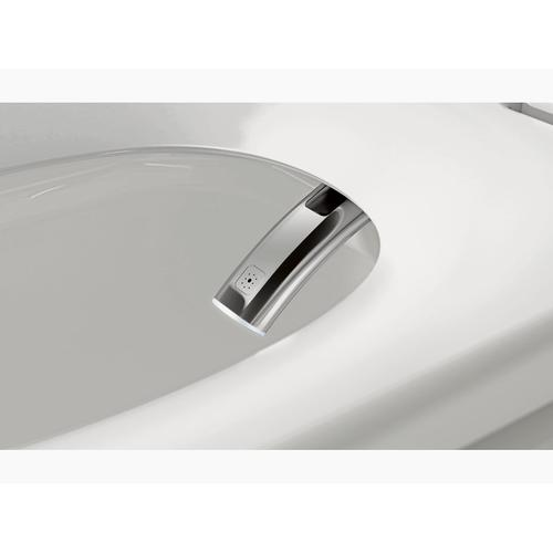 White One-piece Elongated Dual-flush Intelligent Toilet With Skirted Trapway and Standard Remote