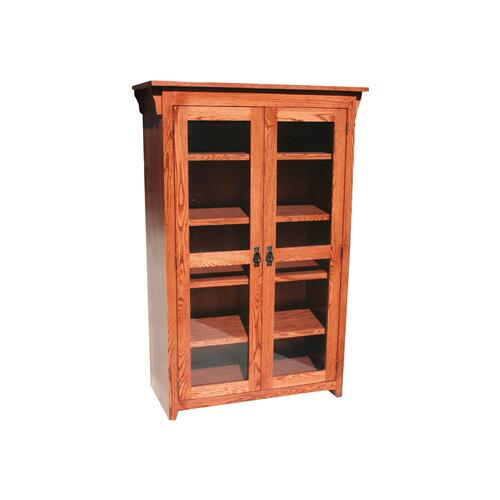 "Mission Oak 36"" Full Door Bookcase"