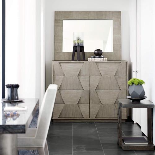 Linea Desk in Black Forest Marble (384)