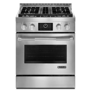 "Jenn-AirPro-Style® 30"" Gas Range with MultiMode® Convection Stainless Steel"