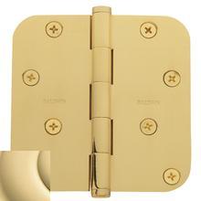 "View Product - Non-Lacquered Brass 5/8"" Radius Corner Hinge"