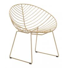 Hyde Lounge Chair Gold