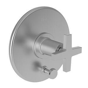 Stainless Steel - PVD Balanced Pressure Tub & Shower Diverter Plate with Handle. Less Showerhead, arm and flange.