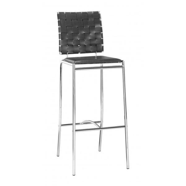 Criss Cross Bar Chair Black