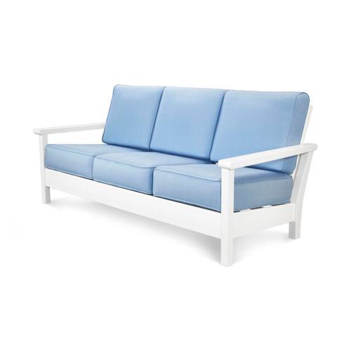 White & Air Blue Harbour Deep Seating Sofa