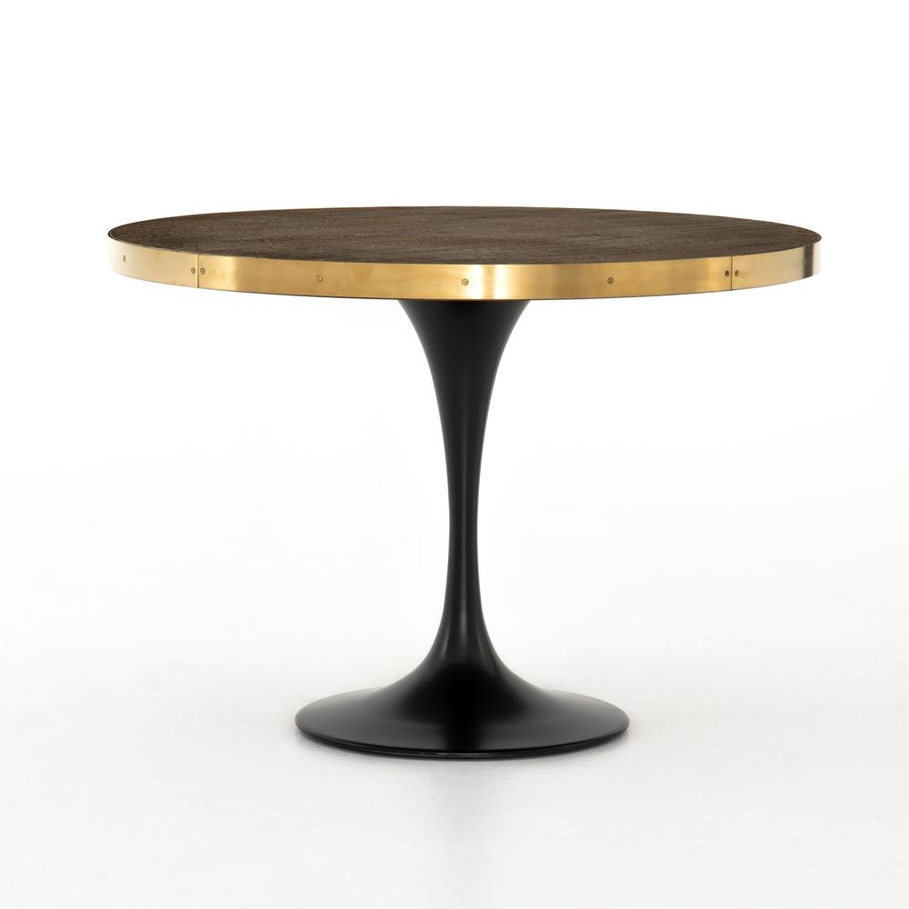 See Details - Evans Bistro Table-reclaimed Burnt Oak