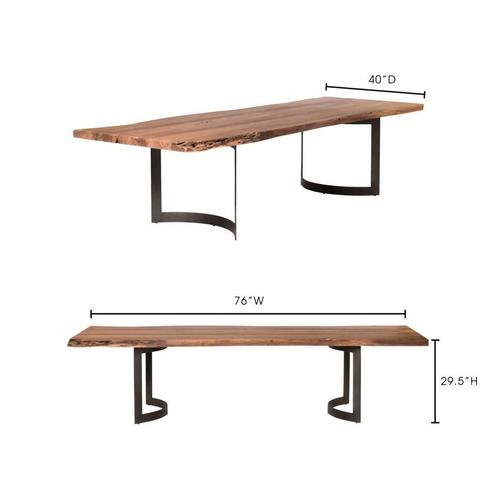 Moe's Home Collection - Bent Dining Table Extra Small Smoked