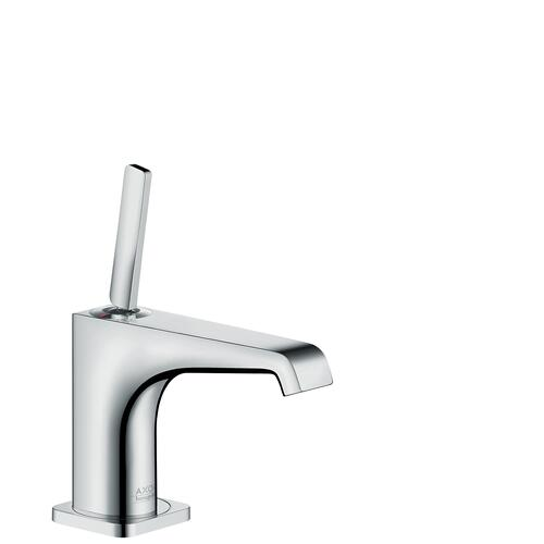 Polished Red Gold Single lever basin mixer 90 with pin handle for hand washbasins with waste set