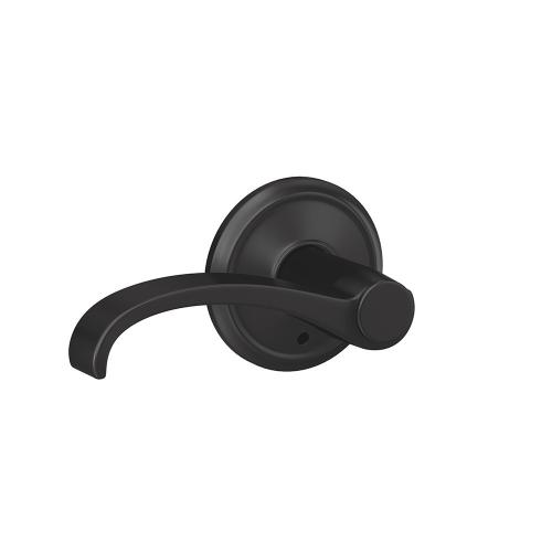 Custom Whitney Lever with Alden Trim Hall-Closet and Bed-Bath Lock - Matte Black