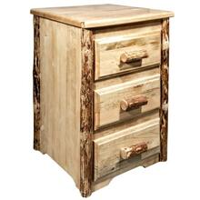 See Details - Glacier Country Collection Nightstand with 3 Drawers