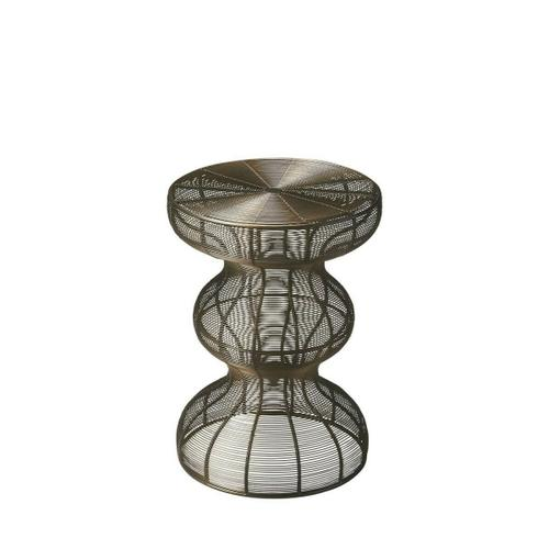 Butler Specialty Company - This triple-decker accent table handcrafted in lacy lingerie iron swirling around a sinuous frame is sure to create a buzz. It's resplendent in a black metal finish.