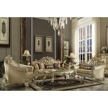 ACME Vendome II Sofa w/5 Pillows - 53120 - Bone PU & Gold Patina
