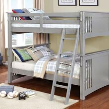 Spring Creek Full/Full Bunk Bed, Gray