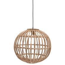"19-3/4"" Round Hand-Woven Rattan Pendant Lamp, 6' Cord (60 Watt Bulb Maximum, Hardwire Only)"