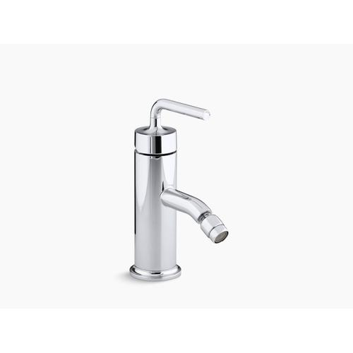 Polished Chrome Horizontal Swivel Spray Aerator Bidet Faucet With Straight Lever Handle